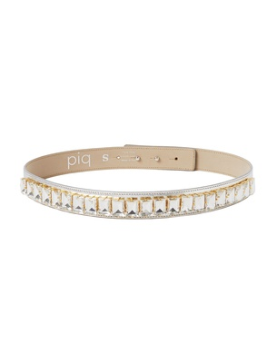 Slim Crystal Belt - Silver