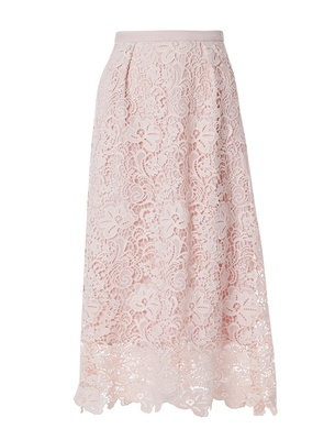 Stella - Faded Blush Guipure Lace