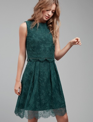 Olivia - Forest Green Lace