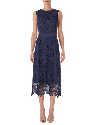 Olivia - Midnight Blue Guipure Lace