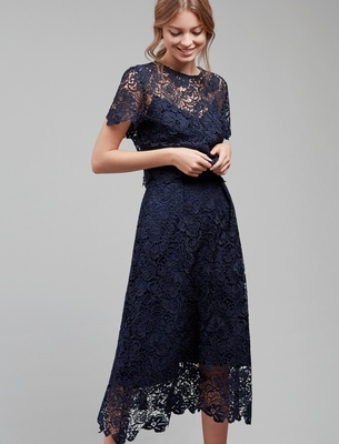 Anina - Midnight Blue Guipure Lace