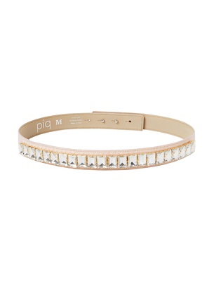Slim Crystal Belt - Faded Blush