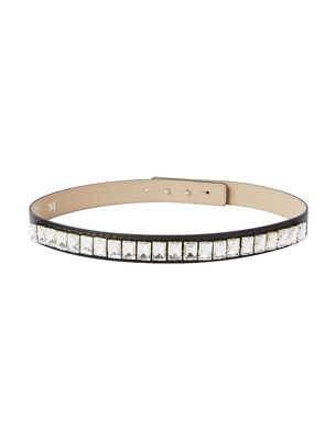 Slim Crystal Belt - Black