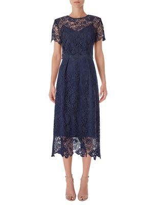 Stella - Midnight Blue Guipure Lace