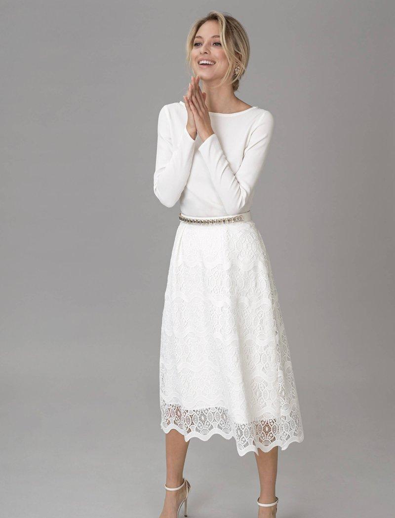 Kleid weiß spitze standesamt